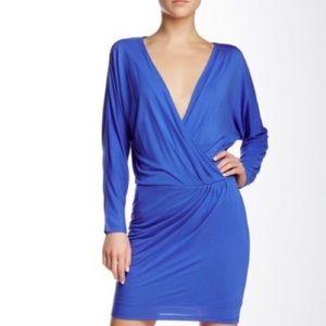 NWT Haute Hippie Cobalt Blue Surplice Dress XS